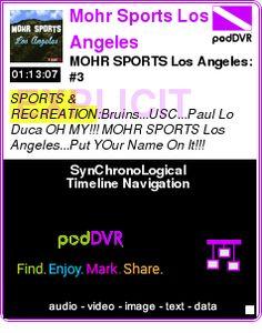 #SPORTS #PODCAST  Mohr Sports Los Angeles    MOHR SPORTS Los Angeles: #3    LISTEN...  http://podDVR.COM/?c=a7240139-b235-cc84-86fe-c9b6d0235191