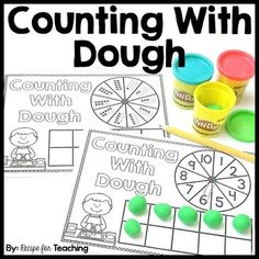 """FREE Counting With Dough mats!  Includes four different mats for differentiation!  Counting and """"Play-Doh"""" FUN for young learners!!"""