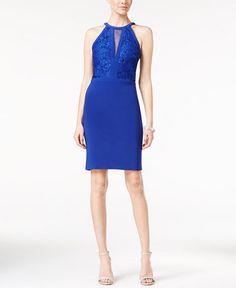 Nightway Lace Illusion Bodycon Dress