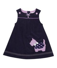Navy Scottie Dog Jumper - Infant, Toddler & Girls