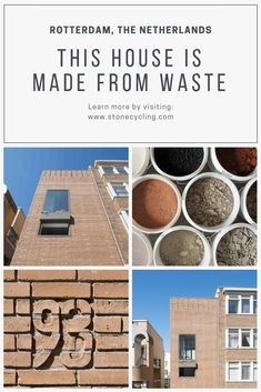 StoneCycling upcycled kilo waste into WasteBasedBricks® in partnership with Architectuur Maken for a project in Rotterdam, The Netherlands Brick Architecture, Pavilion Architecture, Sustainable Architecture, Japanese Architecture, Contemporary Architecture, Landscape Architecture, Residential Building Design, Residential Architecture, Sustainable Building Materials