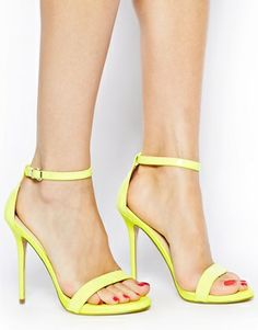 Carvela Glacier Single Sole Neon Yellow Heeled Sandals - Love these! I had a pair just like them (thought I got mine a LOT cheaper! lol) and wore them out until I couldn't wear them anymore!