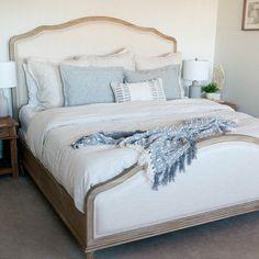 Coastal Master Bedroom, Bedding Master Bedroom, Master Bedroom Makeover, Dream Bedroom, Home Bedroom, Bedroom Decor, Adjustable Beds, Upholstered Beds, Home Decor Furniture
