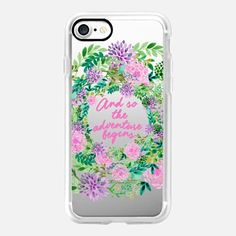 Casetify iPhone 7 Case and Other iPhone Covers - And so the adventure begins floral translucent by Maria Kritzas | #Casetify