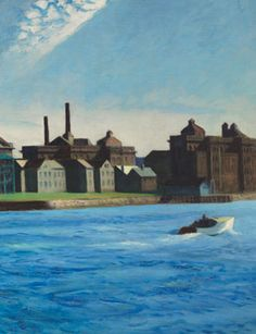 Edward Hopper, Blackwell's Island (detail). Oil on canvas, 35 x 60 inches. Painted in 1928.  More Information: http://www.artdaily.com/#[/url] Copyright © artdaily.org