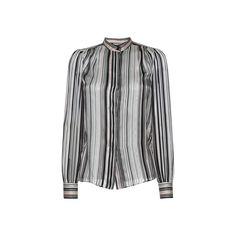 Giambattista Valli Woman Striped Silk-georgette Blouse Black Size 48 Giambattista Valli Free Shipping Real Big Sale Buy Cheap Wholesale Price In China Cheap Online AUEu13jCF9