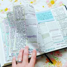 I love filling this Bible with notes! Especially study and lecture notes from BS. Faith Bible, My Bible, Bible Art, Bible Verses, Bible Study Tips, Bible Study Journal, Scripture Study, Bibel Journal, Bible Notes