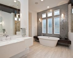 Bathroom Design, Pictures, Remodel, Decor and Ideas - page 40    *Backsplash wall if keeping tub in current location