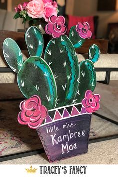 Boho Cactus Baby Shower Boho Cactus Baby Shower,This Whimsical, Fabulous Life! I LOVE painting small crafty projects like this! And what a great door hanger it made to serve as a welcome into their. Baby Shower Boho, Fancy Baby Shower, Boho Gypsy, Cactus Candles, Baby Door Hangers, Cactus Decor, Dixie Belle Paint, Baby Couture, Hand Painted Signs