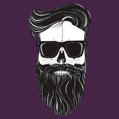 Ray's black bearded skull  by Bigfatbird