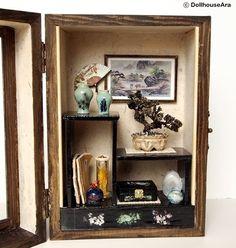 Miniature bonsai and ornaments