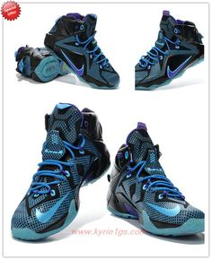 Black Purple Blue 684593-019 Nike Lebron 12 Outlet Stores OQJ2G5 a5f791217