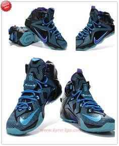Black/Purple/Blue 684593-019 Nike Lebron 12 Outlet Stores OQJ2G5
