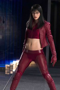 Red Leather Catsuit worn By Milla Jovovich. Click Here To Buy your Catsuits from DCUK.