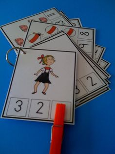Sally Number Cards ~ Preschool Printables