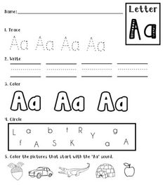 26 page ABC packet - includes tracing, writing, coloring, finding/circling, and associating!