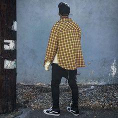 Brand new side zip yellow flannel - Fear of God Yeezy Rick Owens