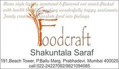 Food Craft by Shakuntala Saraf.