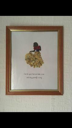 Snow White Disney button art picture