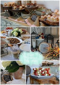 Throwing an elegant woodland baby shower is as easy as using natural rustic elements and combining them with elegant opposites. Baby Shower Menu, Baby Girl Shower Themes, Baby Shower Fall, Baby Shower Cookies, Baby Boy Shower, Baby Shower Decorations, Baby Shower Gifts, Baby Showers, Fall Baby
