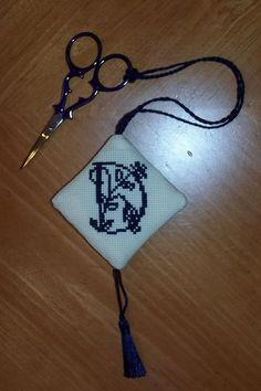 Cross-stitch Scissors Keeper/FOB I made.  Back