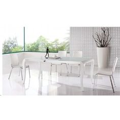 100 Dining Table and 137 Chairs White , ESF
