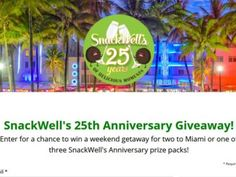 SnackWell's – 25th Anniversary Giveaway Sweepstakes