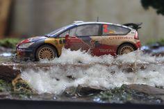 Rally slot diorama 1/32, sprød, cool wheels, vehicle, transport, racing, water splash, photo.