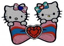 Take a Bow  Kitty brother se400 embroidery designs free