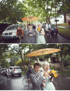 ...Or maybe a totally Portlandia wedding!  A bike parade!