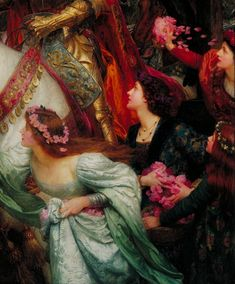 cimmerianweathers: The Two Crowns (detail), Sir Frank Dicksee, 1900. Oil on canvas.