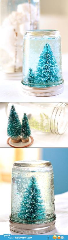 DIY. Mason jar snow globe