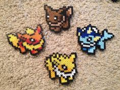 Small Eeveelution Perler Select One by OtakuBeads on Etsy, $4.00