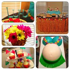 Sandra!!! This Is Totally Cute And Perfect For Summer.Luau Baby Shower