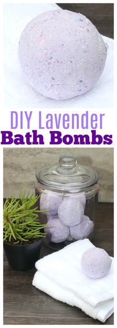 Make your own homemade lavender bath bombs with this EASY recipe + grab 5 Tips for a Relaxing Nighttime Routine #NatureMadeGummies #ad