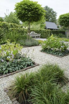 Style: Contemporary Country Garden Tour Click through for details. Style: Contemporary Country Garden Tour Click through for details.Style: Contemporary Country Garden Tour Click through for details. Back Gardens, Outdoor Gardens, Furniture Top View, Gravel Garden, Gravel Pathway, Pea Gravel, Herb Garden, Modern Country Style, Garden Spaces