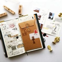 Journal Book inspiration by ✨ . __ We love to curate and share the best daily journal writing inspirations for you. Album Journal, Scrapbook Journal, Travel Scrapbook, Diy Scrapbook, Journal Layout, Scrapbook Layouts, Scrapbook Ideas For Couples, Photo Journal, Couple Scrapbook