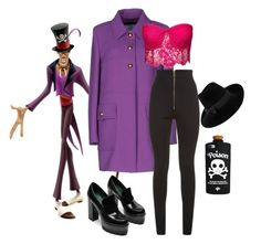 """Dr. Facilier from The Princess and The Frog"" by sara-imbrogno on Polyvore featuring Prada, Balmain and Mademoiselle Slassi"