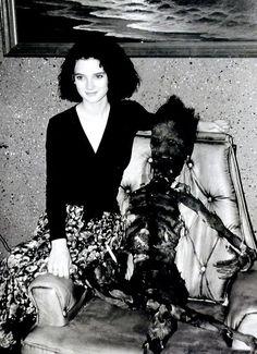 Winona Ryder on the set of Beetlejuice