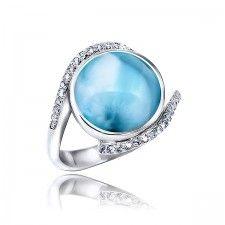 MarahLago - Larimar & White Sapphire Adella Ring