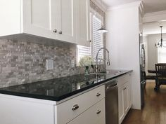 BuildDirect – Granite Countertops – Black Galaxy - Kitchen View
