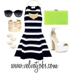 How cute is this outfit? Perfect for a meeting or a work event! www.velvetjobs.com #velvetjobs