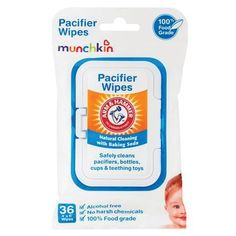 Munchkin Arm and Hammer 36 Pacifier Wipes definitely recommend these idk how many times we've needed these when out to eat or shopping when we forgot the clip lol