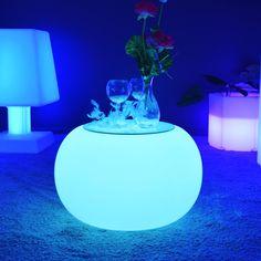 Table basse lumineuse LED Multicolores sans fil  Voir la collection : http://www.livedeco.com/ledcolor-mobilier-lumineux/table-lumineuse.html