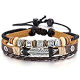 #2: MOWOM Brown Black Silver Alloy Genuine Leather Bracelet Bangle Rope Angel Wing Feather Surfer Wrap Adjustable http://ift.tt/2cmJ2tB https://youtu.be/3A2NV6jAuzc