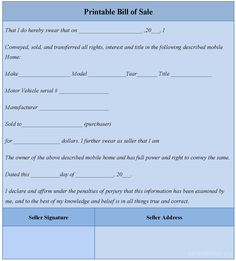 Free Vehicle Bill Of Sale  The Best Free Bill Of Sale Template