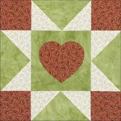 """Yankee Diary 7: Valentine for Noah Clarke's Brother by Becky Brown 9"""" Finished Block From Carrie's diary, Fall, 1860. Sunday..."""