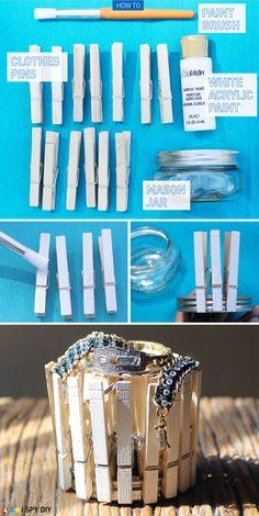 I Spy DIY: [DIY collab] clothespin bracelet holder