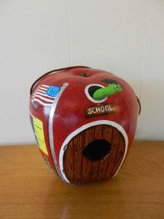 Apple Gourd School Birdhouse