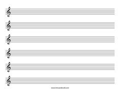5 Best Images Of Free Printable Staff Paper Blank Sheet Music   Blank  Guitar Sheet Music Paper, Blank Sheet Music Treble Clef Staff And Free  Printable Blank ...